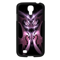Angry Mantis Fractal In Shades Of Purple Samsung Galaxy S4 I9500/ I9505 Case (Black)