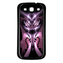 Angry Mantis Fractal In Shades Of Purple Samsung Galaxy S3 Back Case (black)