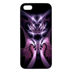 Angry Mantis Fractal In Shades Of Purple iPhone 5S/ SE Premium Hardshell Case