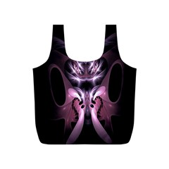 Angry Mantis Fractal In Shades Of Purple Full Print Recycle Bags (s)