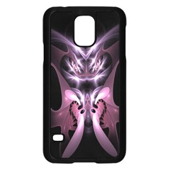 Angry Mantis Fractal In Shades Of Purple Samsung Galaxy S5 Case (black)