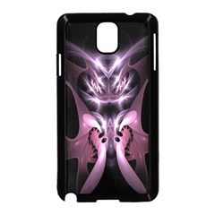 Angry Mantis Fractal In Shades Of Purple Samsung Galaxy Note 3 Neo Hardshell Case (Black)
