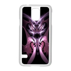 Angry Mantis Fractal In Shades Of Purple Samsung Galaxy S5 Case (White)