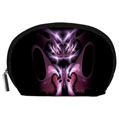 Angry Mantis Fractal In Shades Of Purple Accessory Pouches (large)