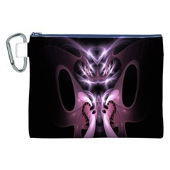 Angry Mantis Fractal In Shades Of Purple Canvas Cosmetic Bag (xxl)