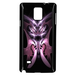 Angry Mantis Fractal In Shades Of Purple Samsung Galaxy Note 4 Case (Black)