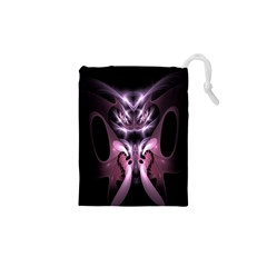 Angry Mantis Fractal In Shades Of Purple Drawstring Pouches (XS)