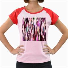 Randomized Colors Background Wallpaper Women s Cap Sleeve T-Shirt