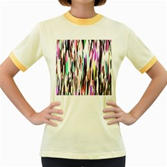 Randomized Colors Background Wallpaper Women s Fitted Ringer T Shirts