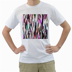 Randomized Colors Background Wallpaper Men s T Shirt (white) (two Sided)