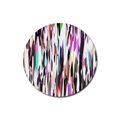 Randomized Colors Background Wallpaper Rubber Round Coaster (4 Pack)