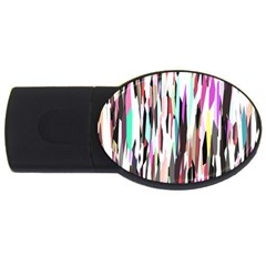 Randomized Colors Background Wallpaper USB Flash Drive Oval (1 GB)