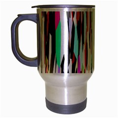 Randomized Colors Background Wallpaper Travel Mug (Silver Gray)