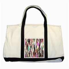 Randomized Colors Background Wallpaper Two Tone Tote Bag