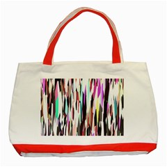 Randomized Colors Background Wallpaper Classic Tote Bag (Red)