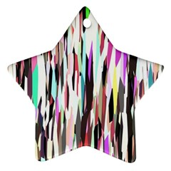 Randomized Colors Background Wallpaper Star Ornament (Two Sides)