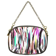 Randomized Colors Background Wallpaper Chain Purses (Two Sides)
