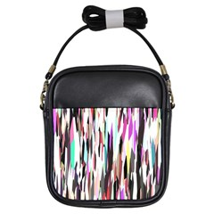 Randomized Colors Background Wallpaper Girls Sling Bags