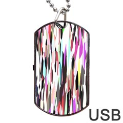 Randomized Colors Background Wallpaper Dog Tag Usb Flash (one Side)
