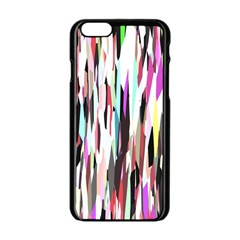 Randomized Colors Background Wallpaper Apple iPhone 6/6S Black Enamel Case