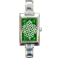 Abstract Clutter Rectangle Italian Charm Watch