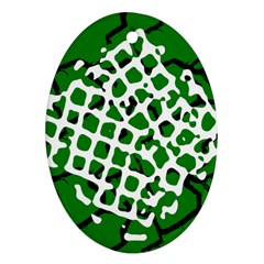 Abstract Clutter Ornament (Oval)