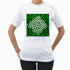 Abstract Clutter Women s T-Shirt (White) (Two Sided)