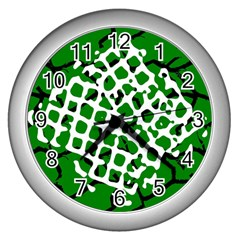 Abstract Clutter Wall Clocks (Silver)