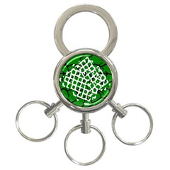 Abstract Clutter 3 Ring Key Chains