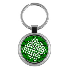 Abstract Clutter Key Chains (round)