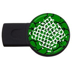 Abstract Clutter USB Flash Drive Round (2 GB)