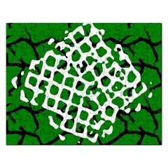 Abstract Clutter Rectangular Jigsaw Puzzl