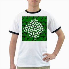 Abstract Clutter Ringer T-Shirts