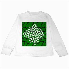 Abstract Clutter Kids Long Sleeve T-Shirts