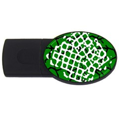 Abstract Clutter USB Flash Drive Oval (4 GB)
