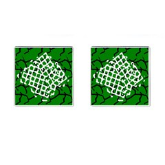 Abstract Clutter Cufflinks (Square)