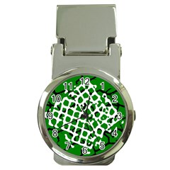 Abstract Clutter Money Clip Watches