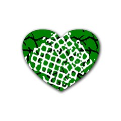 Abstract Clutter Heart Coaster (4 Pack)
