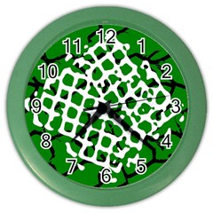 Abstract Clutter Color Wall Clocks
