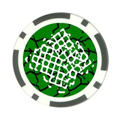 Abstract Clutter Poker Chip Card Guard (10 pack)