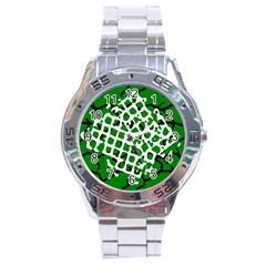 Abstract Clutter Stainless Steel Analogue Watch