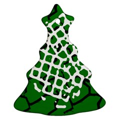 Abstract Clutter Christmas Tree Ornament (Two Sides)
