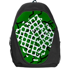 Abstract Clutter Backpack Bag