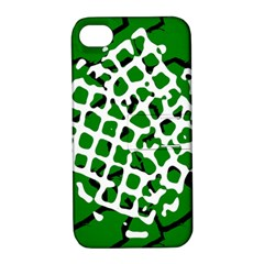 Abstract Clutter Apple iPhone 4/4S Hardshell Case with Stand