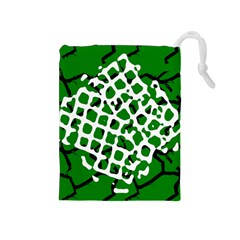 Abstract Clutter Drawstring Pouches (Medium)
