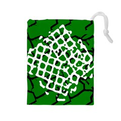Abstract Clutter Drawstring Pouches (Large)