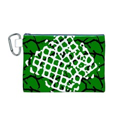 Abstract Clutter Canvas Cosmetic Bag (M)