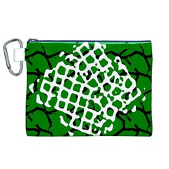 Abstract Clutter Canvas Cosmetic Bag (xl)