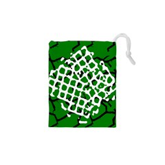 Abstract Clutter Drawstring Pouches (XS)