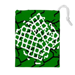 Abstract Clutter Drawstring Pouches (Extra Large)